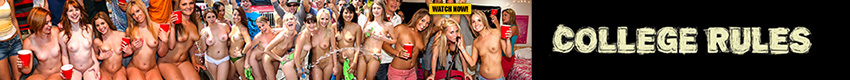 College Rules - College Rules features HARDCORE REALITY FOOTAGE of REAL COLLEGE SLUTS with the tightest bodies and prettiest faces getting down & dirty; going WILD in dorm rooms, at college parties and MORE. College Rules is RAW COLLEGE HOMEMADE VIDEOS at its BEST!
